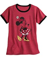 Disney Minnie Mouse Classic Ringer Tee for Women Red