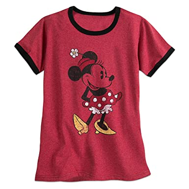 80d2fc7c8 Amazon.com: Disney Minnie Mouse Classic Ringer Tee for Women Size ...