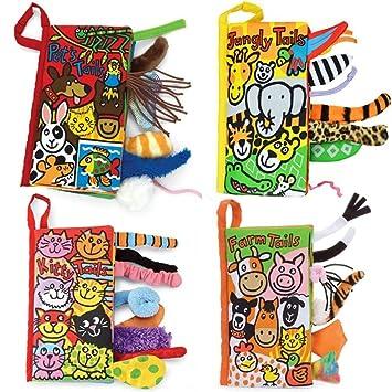 Dino tails colas animales libro de tela beb/é de juguete Desarrollo Libros Aprendizaje y Educaci/ón
