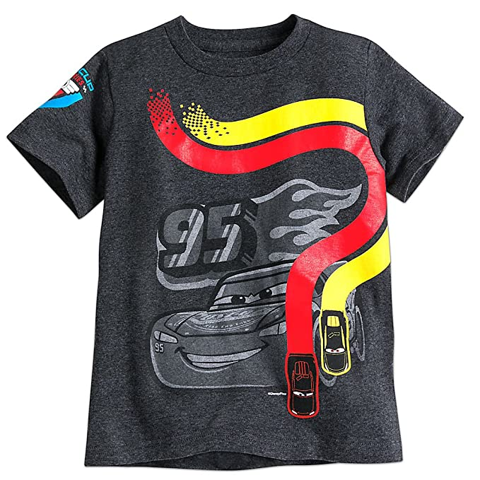 Amazon.com  Disney Lightning McQueen Tee for Boys - Cars 3 - Gray ... 231536cb3