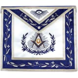 Master Mason Masonic Apron with Embroidered Border