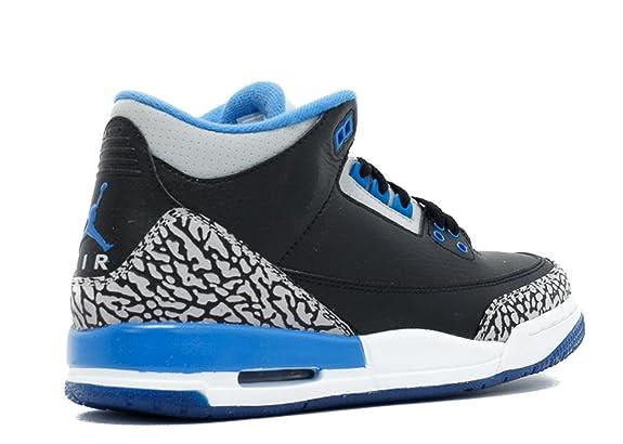 Amazon.com  Air Jordan 3 Retro Bg (Gs)  Sport Blue  - 398614-007 - Size 5   Shoes 86a5aec1f