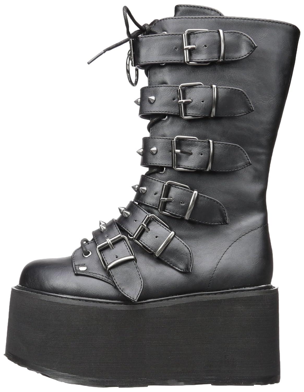 Demonia Women's Damned-225 7 Mid Calf Boot B0711C7CK1 7 Damned-225 B(M) US|Black Vegan Leather 7981aa