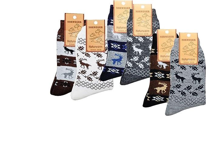 2 pares de Noruego Country de calcetines con lana de oveja, noruego de dessins: Amazon.es: Ropa y accesorios