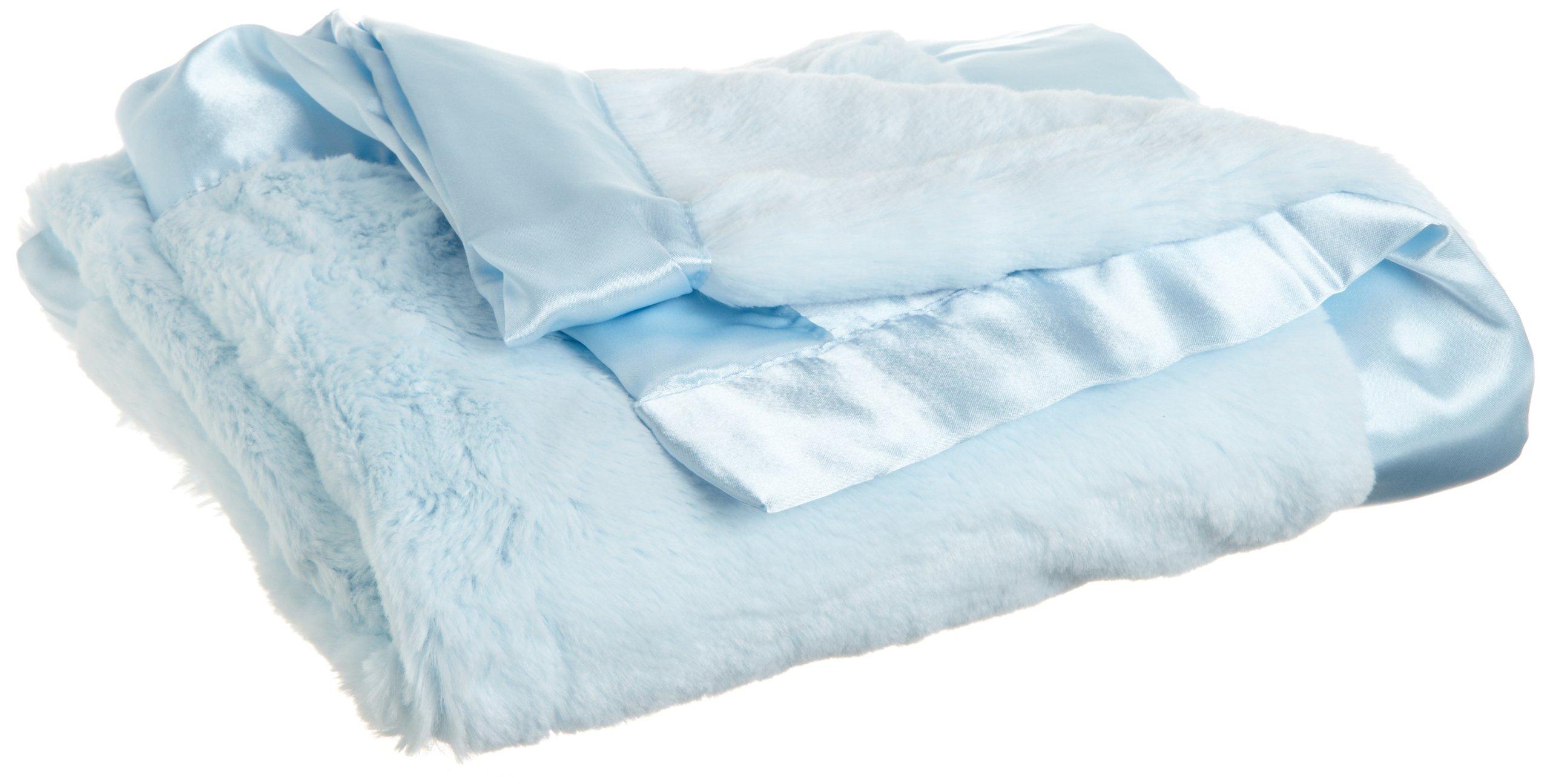 Little Me Baby-Boys Newborn Plush Stroller Blanket, Light Blue, One Size by Little Me