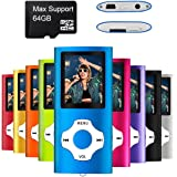 MYMAHDI - Digital, Compact and Portable MP3/MP4 Player (Max Support 64 GB Micro SD Card) with Photo Viewer, E-Book Reader and Voice Recorder and FM Radio Video Movie in Dark Blue