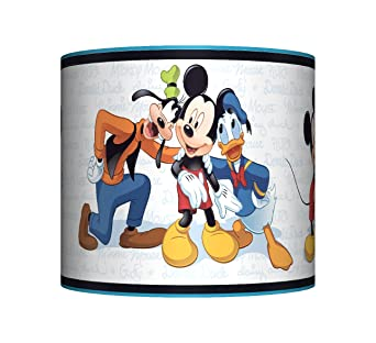 Mickey mouse friends ceiling lampshade 10 drum boys blue mickey mouse friends ceiling lampshade 10 drum boys blue bedroom lamp shade amazon lighting aloadofball Images