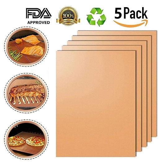 BESTHOPE BBQ Grill Mat,Antiadherente, Resistente al Calor y ...