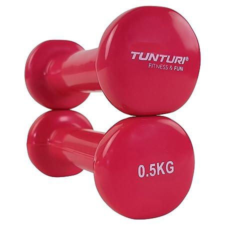 Tunturi 14TUSFU108 Mancuernas, Unisex Adulto, Azul/Rosa, 0.5 kg: Amazon.es: Deportes y aire libre