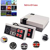 JAOK Classic Handheld Game Console, Built-In 620 Classic Games And 2X 4 Nes Classic Button Controller Av Output Video…