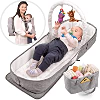 3-in-1 Baby Carrier & Portable Bassinet, with Mini Diaper Storage Bag, Get Organized with Confachi Convertible and Multi-Purpose Travel Baby Bag Backpack - Soft Comfort for You and Baby