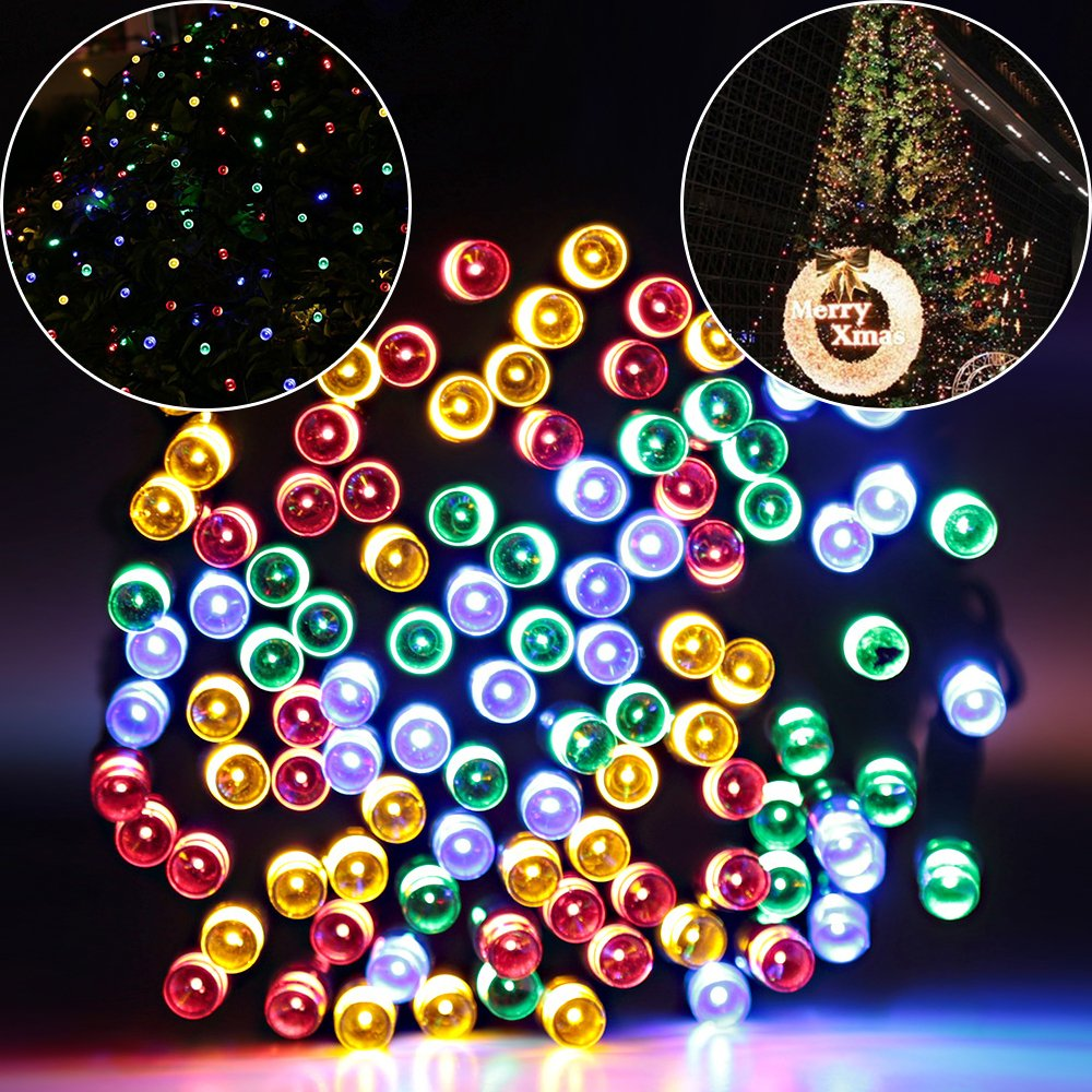 amazoncom solar lights outdoor 72ft 200 led fairy lights ambiance lights for patio lawn garden home wedding holiday christmas xmas tree - Holiday Christmas Lights