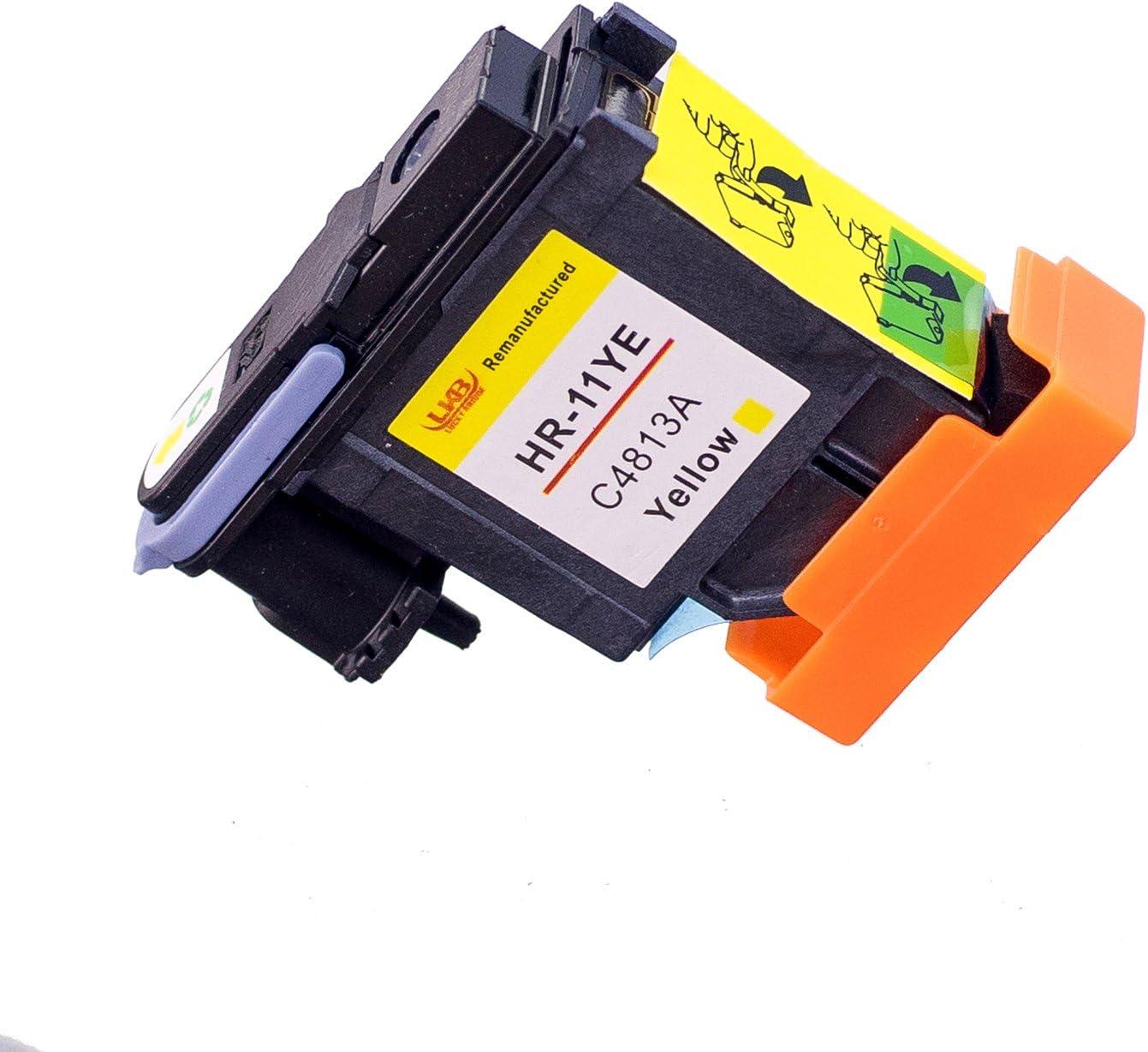 Lucky puente 1PK cabezal de impresión amarillo impresora HP11 C4813 A REMANUFACTURADO compatible para HP Business Inkjet 2200, 2250, 2280, 2600, 2800 HP Designjet 110 NR, Designjet 10PS, 20PS, 50PS, 500 800 Impresoras (1 YE): Amazon.es: Oficina y papelería
