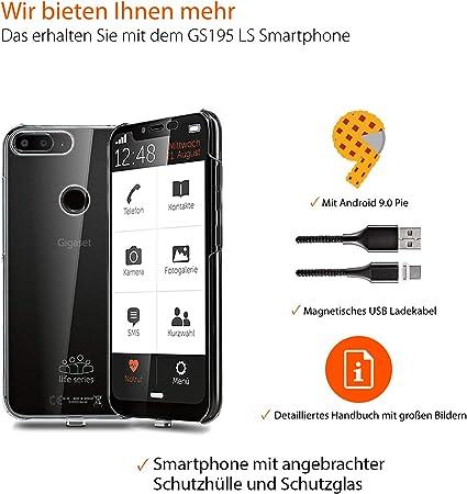 Gigaset GS195 Life Series (Senior-Smartphone) Libre sin Branding ...