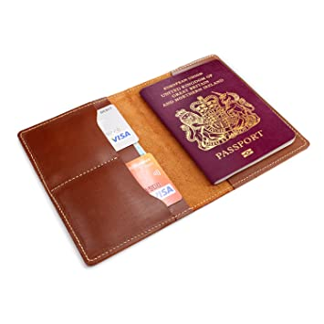 d8756d210f32 JoyToken Personalised Leather Passport Holder Passport Cover with Card  Holders Travel Document Wallet (Brown)  Amazon.co.uk  Luggage