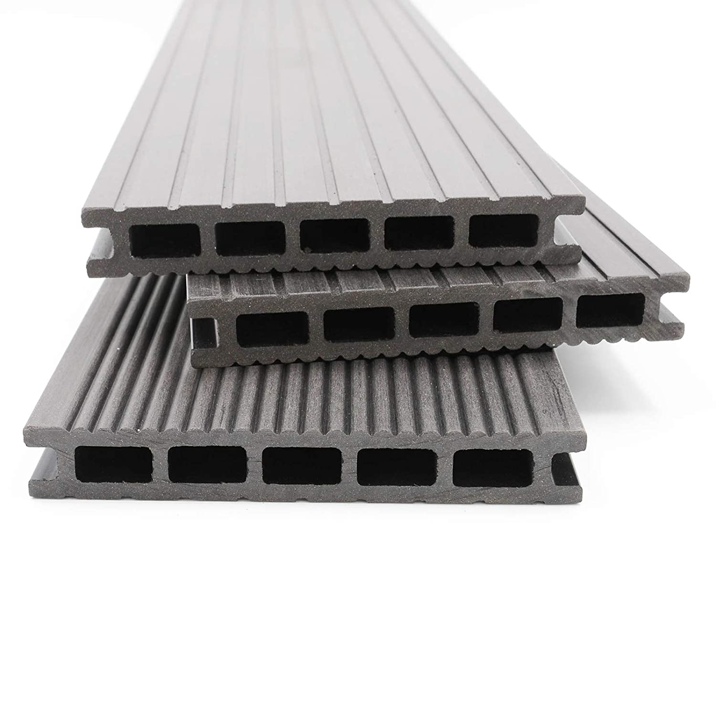 40x60 mm Unterkonstruktion /& Clips I Dielenl/änge 4,40 m I Fl/äche 26 m/² HORI/® WPC-Terrassendielen Malta grau I Komplett-Set inkl