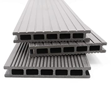 Bekannt HORI® WPC-Terrassendielen Malta grau I Komplett-Set inkl. 40x60 mm BR96