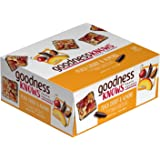 goodnessKNOWS Peach, Cherry, Almond & Dark Chocolate Gluten Free Snack Square Bars 12-Count Box