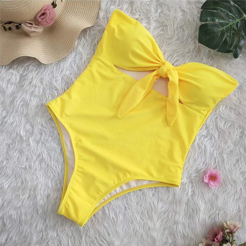 Bikini Natacion Traje de Baño Una Pieza Bañador Mujer Alta Cintura ...