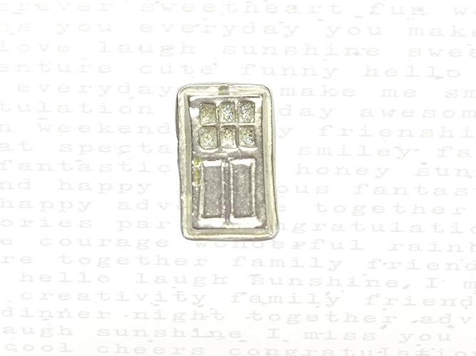 Front Door Charm in Silver \u0026 22k Gold  sc 1 st  Amazon.com & Amazon.com: Front Door Charm in Silver \u0026 22k Gold: Handmade