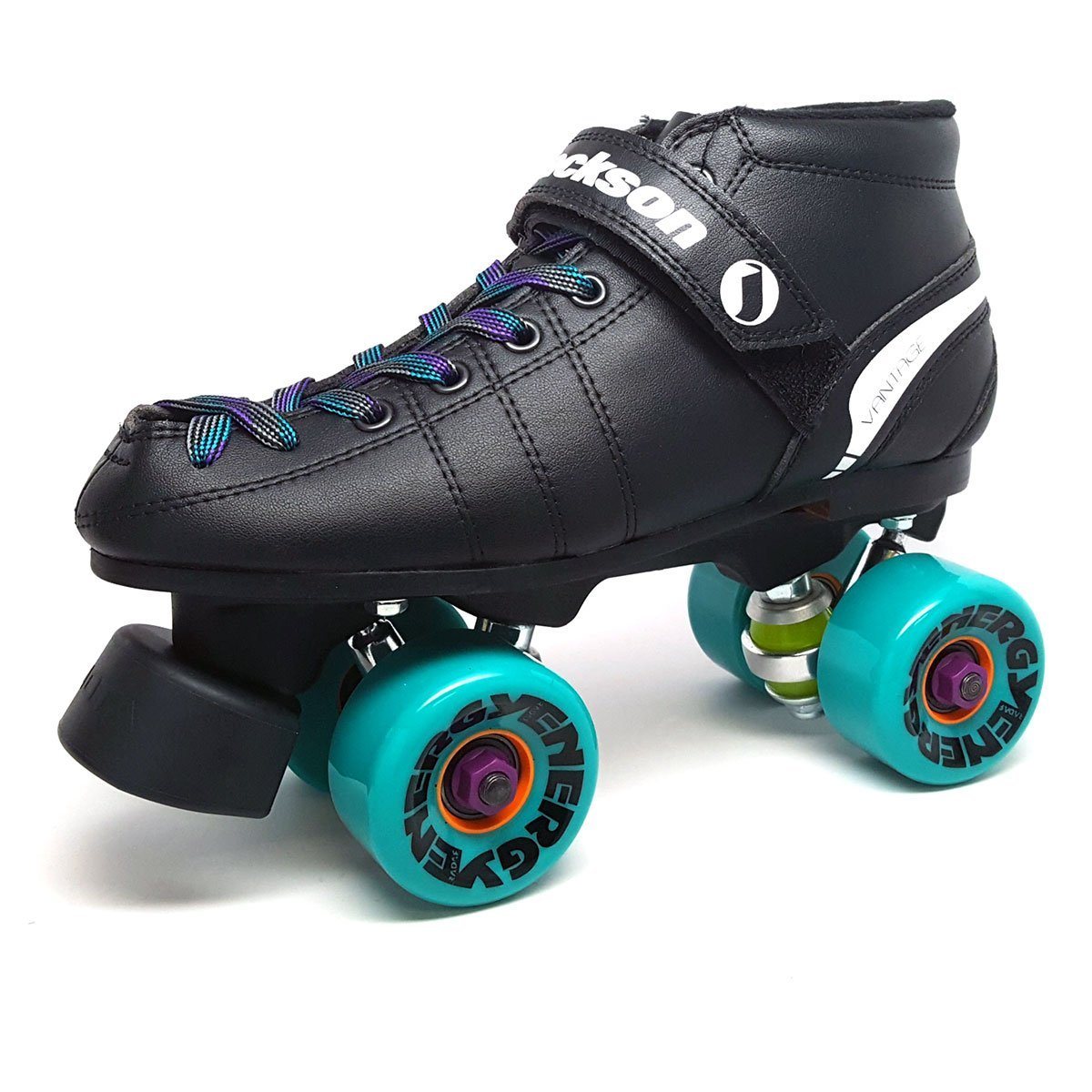 Jackson Phreakskate Outdoor Aqua Energy 62mm Quad Roller Speed Skate Size 7