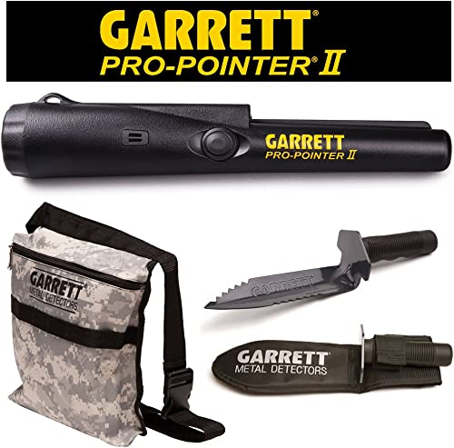 Garrett Pro Pointer II Two Metal Detector Pinpointer with Camo Digger s Pouch and Edge Digger