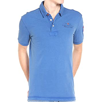Napapijri ELBAS STRETCH Blues Polo, turquesa, Small: Amazon.es ...