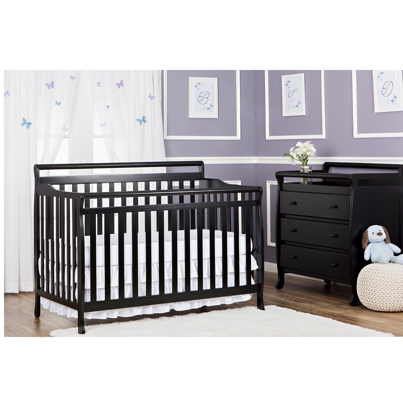 Amazon.com : Dream On Me Liberty 5 In 1 Convertible Crib, Black :  Convertible Cribs : Baby