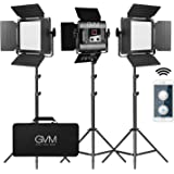 GVM 560 LED Video Light, Dimmable Bi-Color, 3 Packs Photography Lighting with APP Intelligent Control System, Lighting…