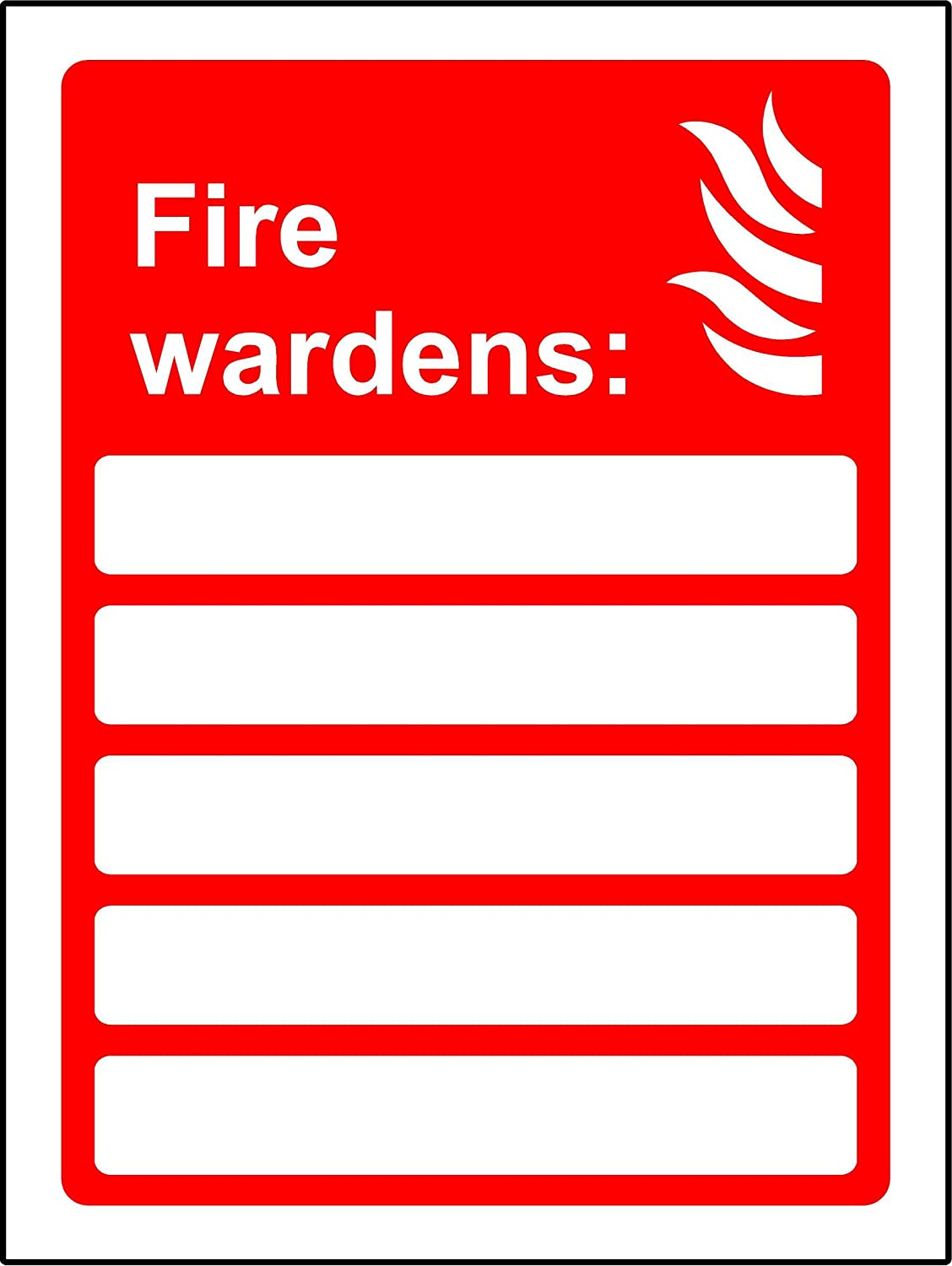 Multi sign Your first aiders are and your fire wardens are Safety sign 1.2mm Rigid plastic 300mm x 200mm