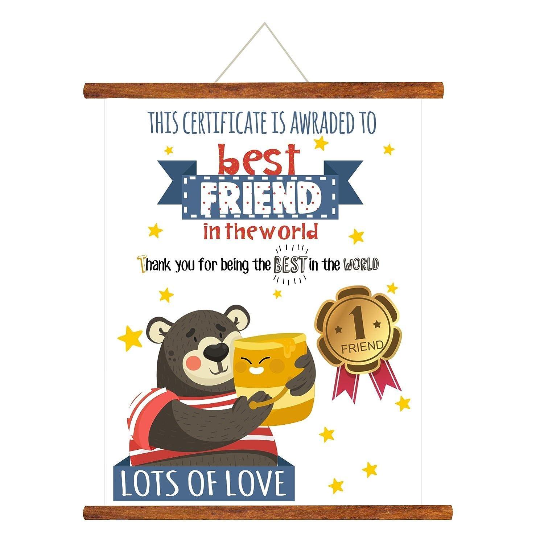 Yaya Cafe Best Friends Gifts Scroll Greeting Card