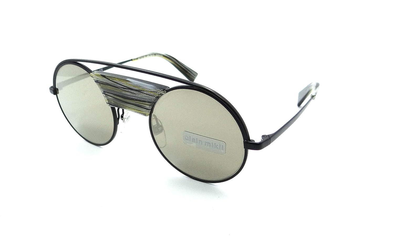 Alain Mikli Sunglasses A04002N 004//6G 47-23-135 Black Muticolored Thread//Brown