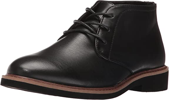 Deer Stags Boys' Ballard Bootie, Black, 6 M US Big Kid best boys' dress shoes