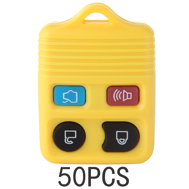 ECCPP 50 x新しい交換キーレスリモートキーFobクリッカーシェルケースハウジングFixボタンパッドfor cwtwb1u212 cwtwb1u331 gq43vt11t ( yellow-4btn ) B07BCCPZCM