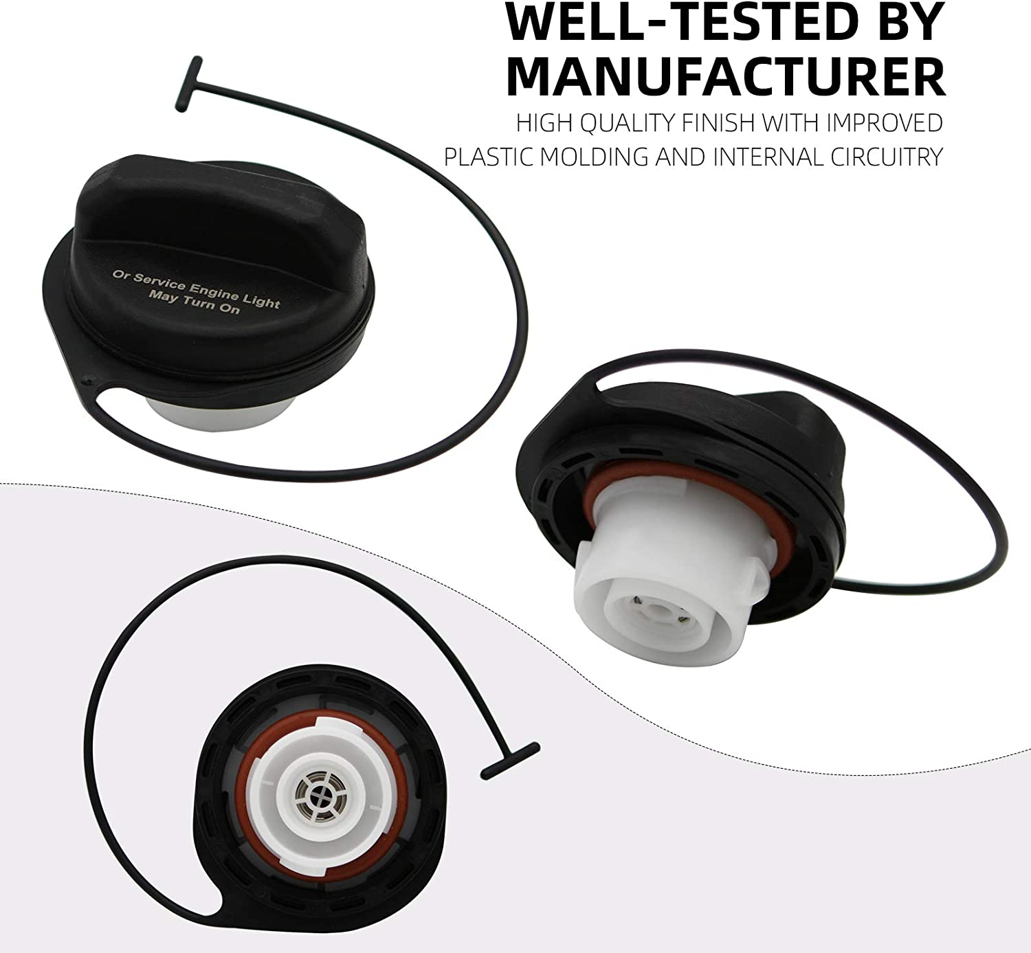 Fuel Tank Gas Cap Assembly Replaces GT330 20915842 for 2004-2011 Chevy Avalanche Silverado Suburban Tahoe Traverse,GMC Acadia Sierra Yukon,Buick Enclave,Cadillac Escalade,Saturn Outlook by Sikawai