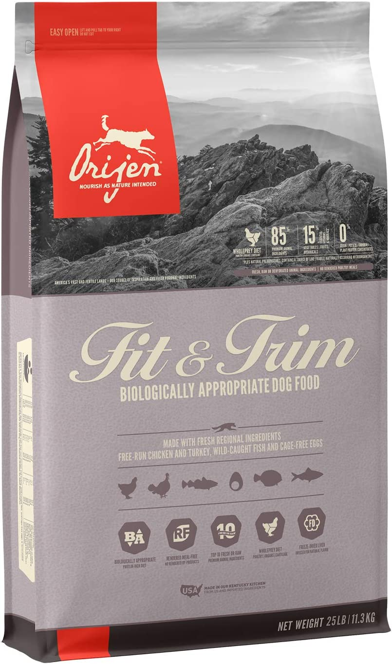 ORIJEN Fit & Trim High-Protein, Grain-Free, Premium Quality Meat, Adult Dry Dog Food