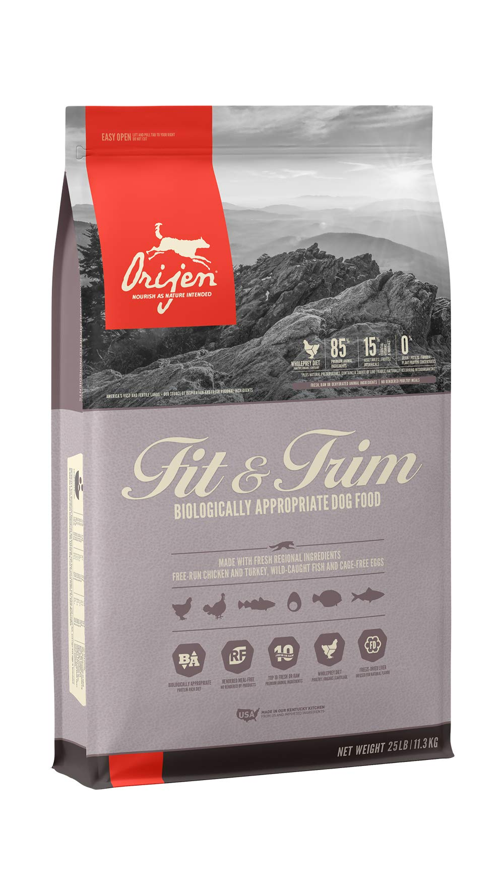ORIJEN Dry Dog Food, Fit & Trim, Biologically Appropriate & Grain Free by Orijen