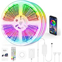 """【""""Chasing Effect""""】LED Strip Lights 10m Waterproof -- RGBIC WS2812B Bluetooth –DreamColor LED Lights with Music Sync…"""