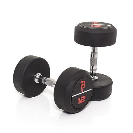 Bodypower Pro de goma mancuernas 12 kg x2
