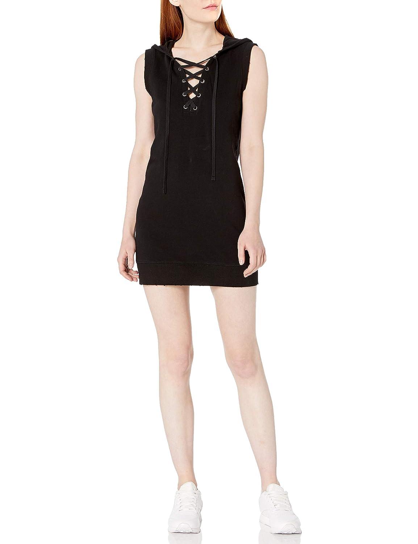 Pam /& Gela Womens Hooded Lace Up Dress