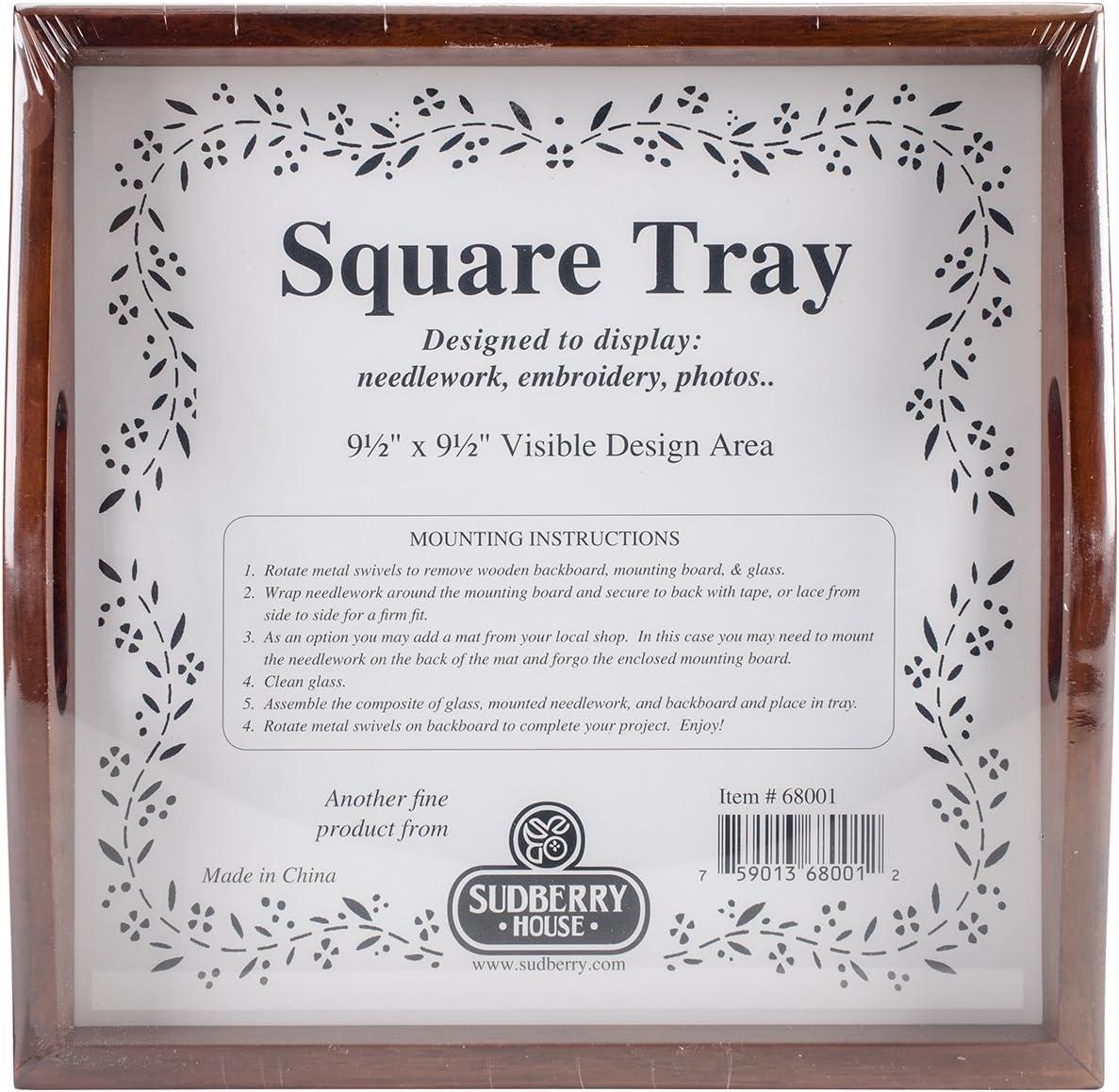 10 X 10 Mahogany Sudberry House 68001 Small Square Tray