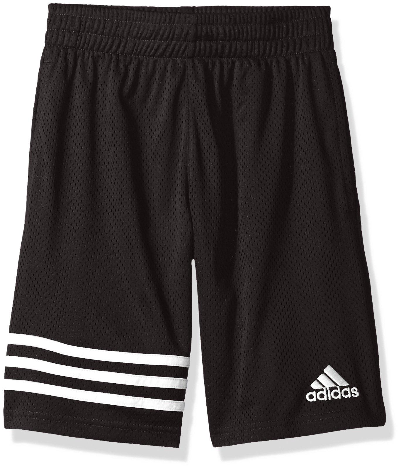 adidas Big Boys' Athletic Short, Defender Caviar Black, S