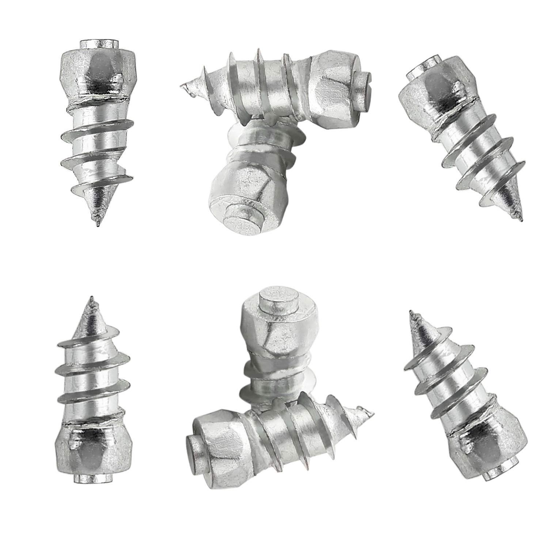 SAILINE 100PC 15mm Car Tire Stud Screw&Sleeve Tool Kit Truck Motorcycle Anti-slip Carbide Tip,Snow Chains Spikes Studs