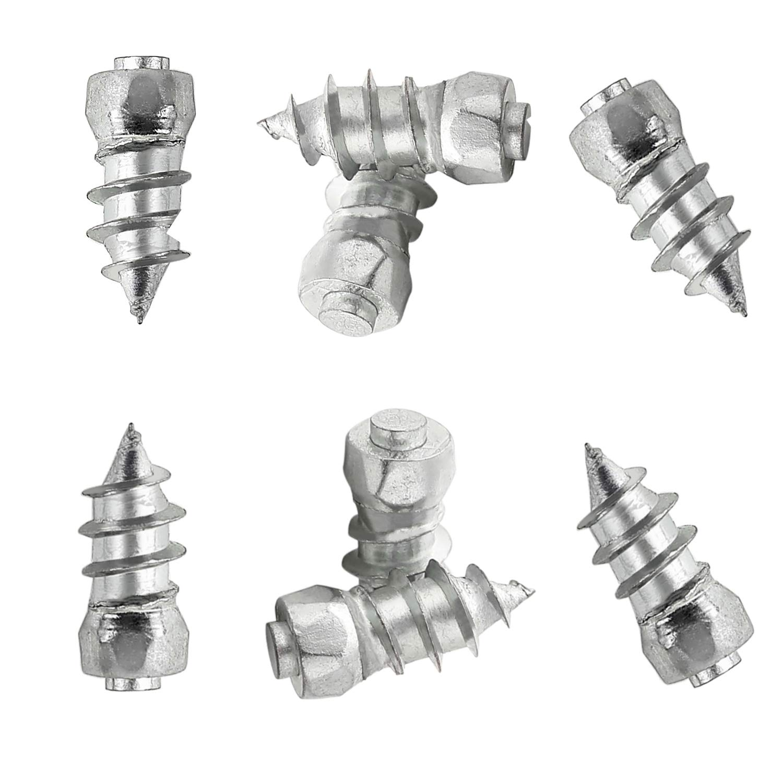 SAILINE 100PC Car Tire Stud Screw&Sleeve Tool Kit Truck Motorcycle Anti-Slip Carbide Tip,Snow Chains Spikes Studs (15mm)