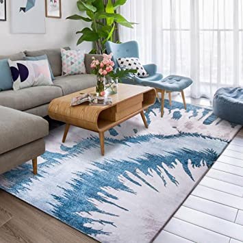 Amazon.de: Homelx Moderner europäischer Art-korallenroter Samt-Teppich