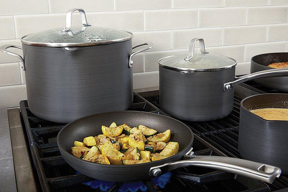 Calphalon 10 Piece Classic Nonstick Cookware Set, Grey by Calphalon (Image #3)