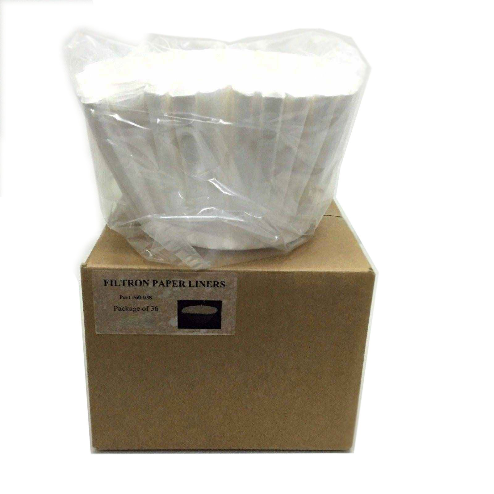 Filtron Cold Brew Paper Filter Liners - 36 Pack