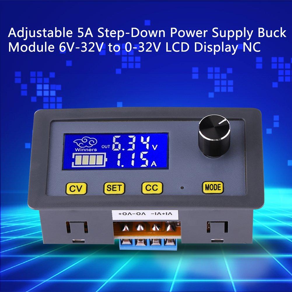 Abw/ärtswandler,Einstellbare DC-DC-5A-Abw/ärtsstromversorgung Buck-Modul 6V-32V bis 0-32V LCD-Anzeige CC CV Einstellbarer Abw/ärtsspannung Transformator mit hochpr/äzisen LCD-Display
