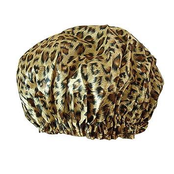 Amazon.com   Safari Spots Shower Cap for Long Hair af652076c4a