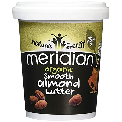 Meridian Organic Smooth Almond Butter 454 g (Pack of 6)